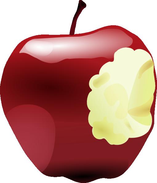 Apple Inc. clipart cartoon Online this Bitten art vector