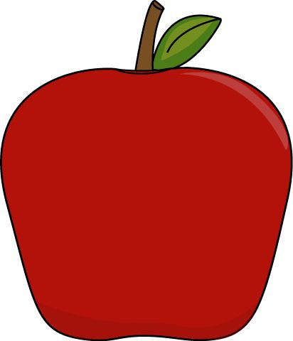 Crayon clipart apple Clipart apple clipart Fancy apple