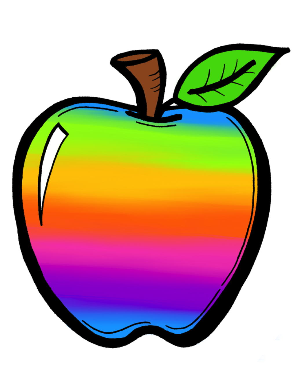 Colouful clipart apple #6