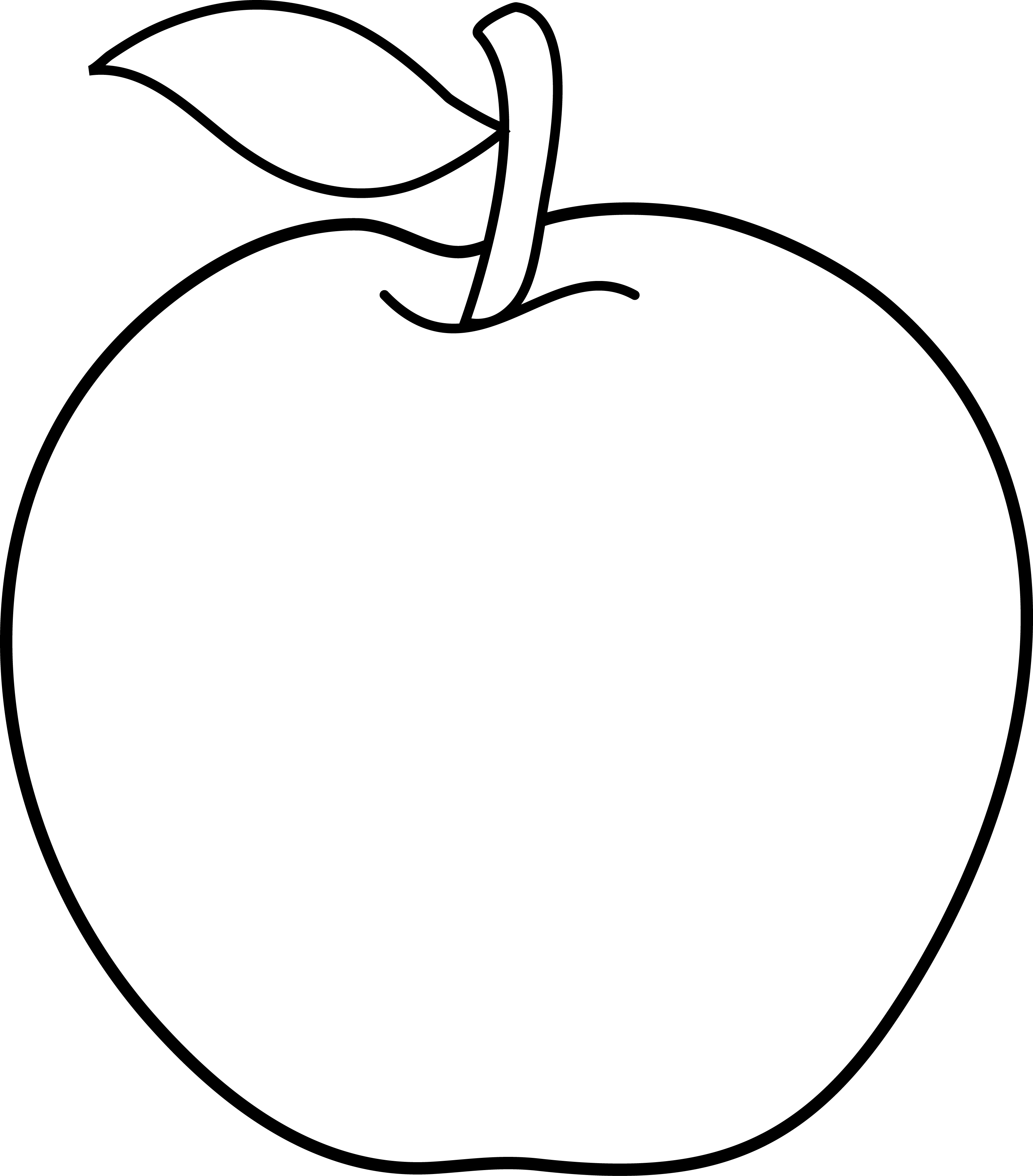 Apple clipart outline png Download Clip Free Outline Clipart