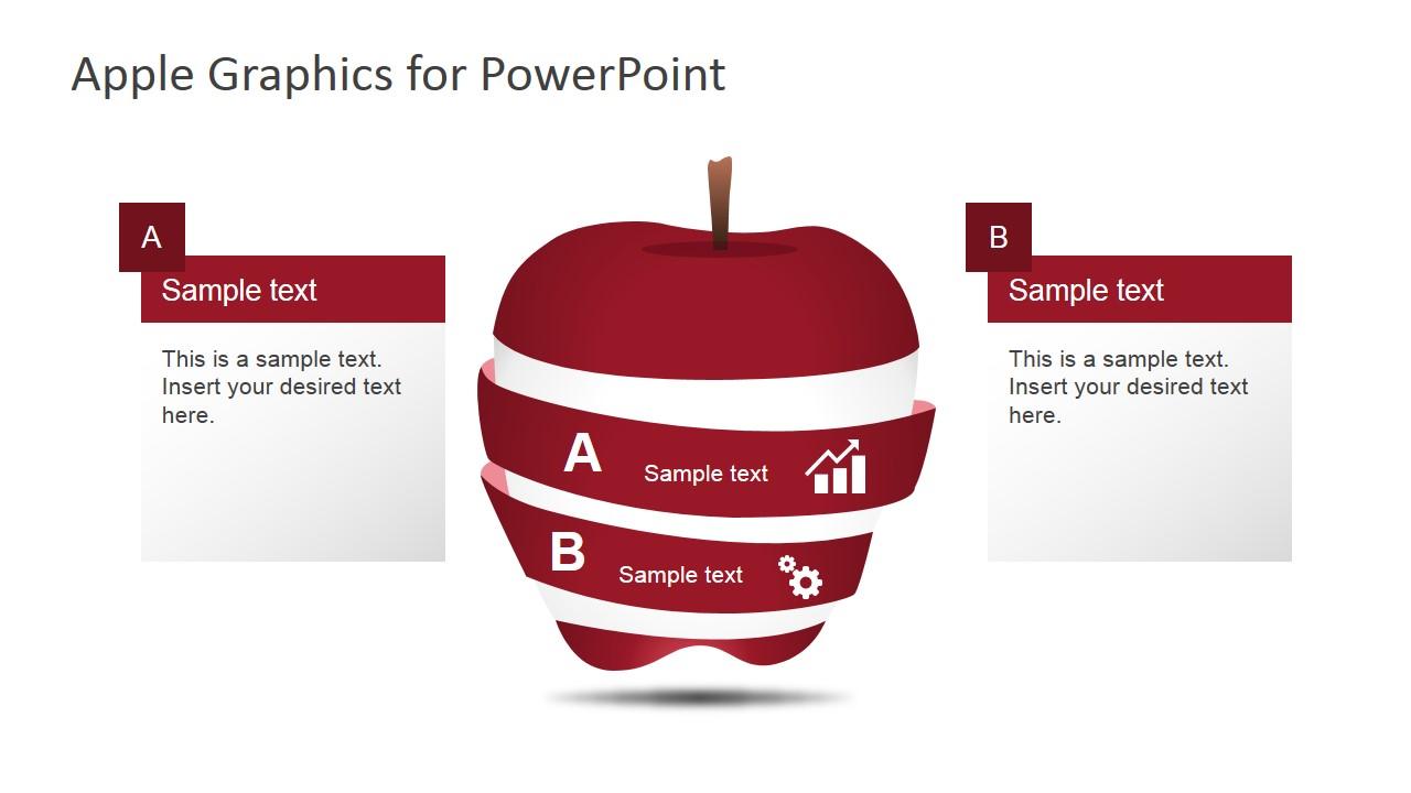 Apple Inc. clipart powerpoint Segmented Editable Apple SlideModel Graphics