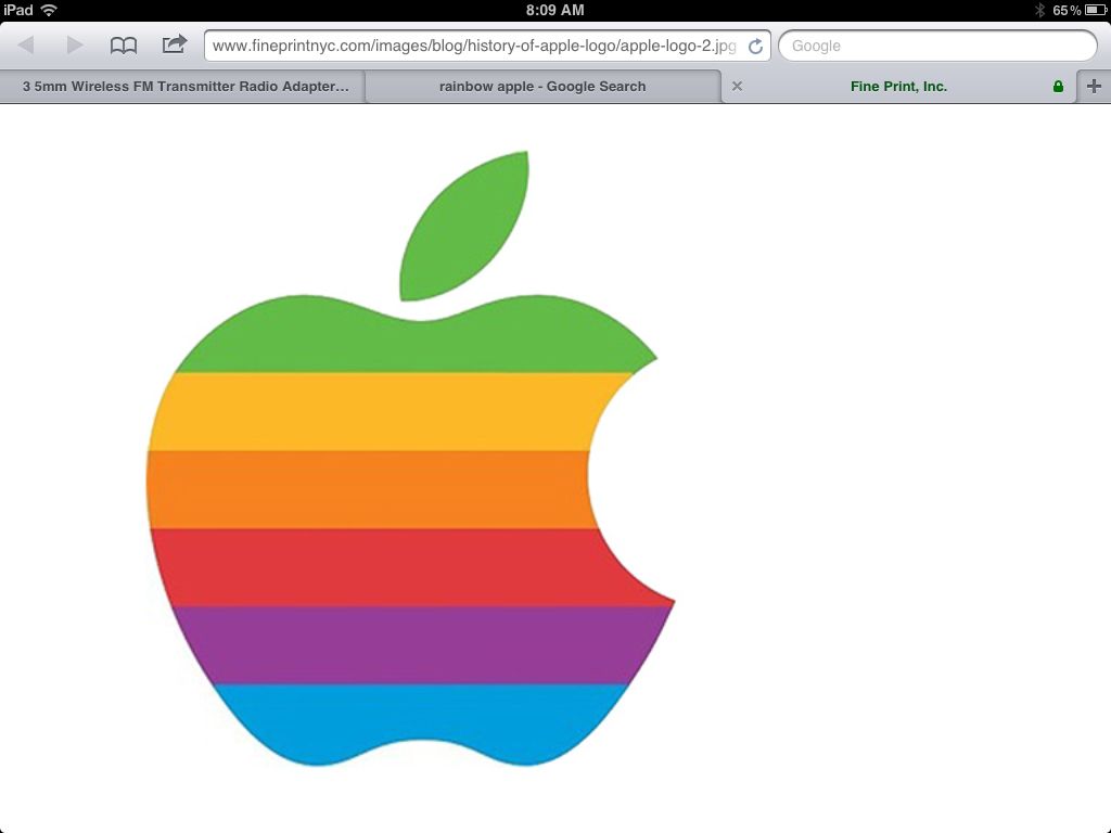 Apple Inc. clipart rainbow #10