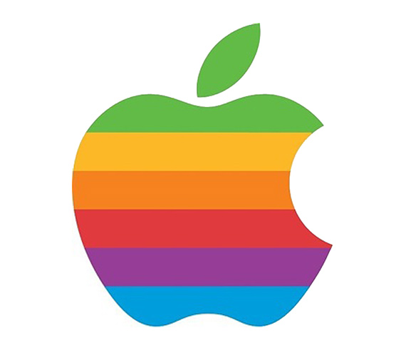 Apple Inc. clipart rainbow #3