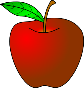 Colouful clipart apple #4