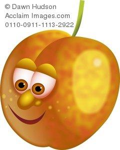 Apricot clipart cartoon Fruit Cartoon Mr Apricot Apricot