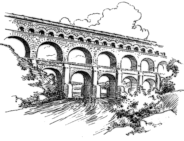 Aqueduct clipart  Clipart Aqueduct