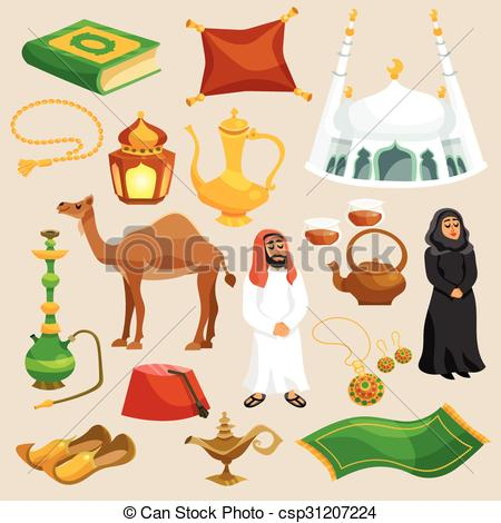 Arab clipart tent Illustration and eastern Set Arabic