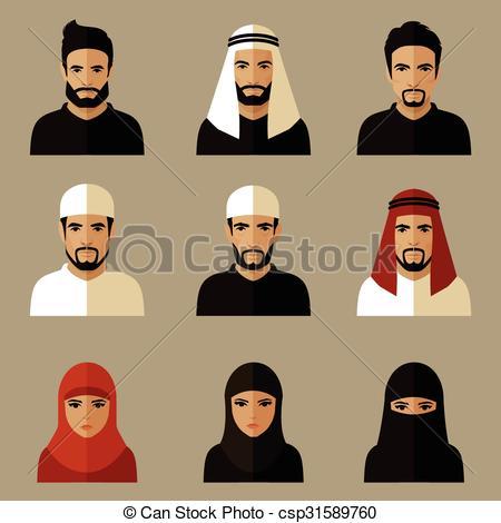 Arab clipart arabian Arabic arabic illustration people Vector
