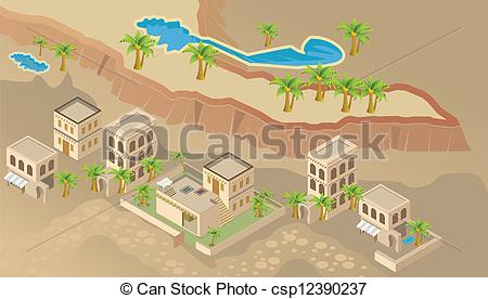 Arabian clipart village Vectors Illustration arab Art Clip
