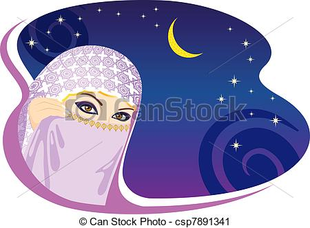 Arabien Nights clipart Art csp7891341 night of woman