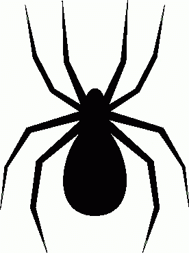 Moving clipart spider #1