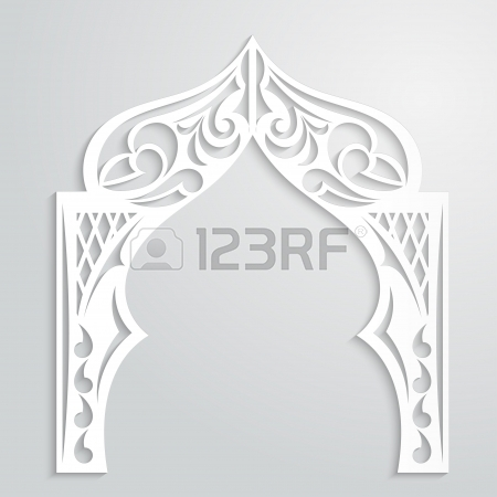 Arch clipart arabian The background arch style Asian