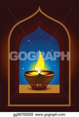 Arch clipart celebration Stock Illustration oil Art Diwali