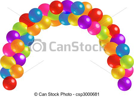 Arch clipart colorful balloon Of Art Arc Clip Beautiful