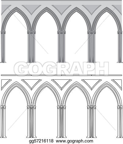 Arch clipart gothic Arch vectorized Stock gg57216118 column