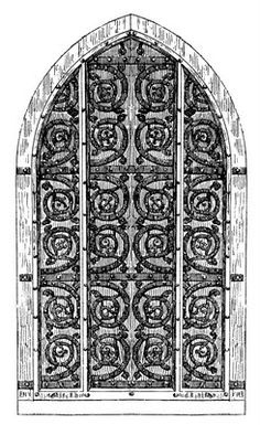 Arch clipart gothic  Door Art Church esque