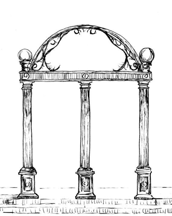 Arch clipart uga #2