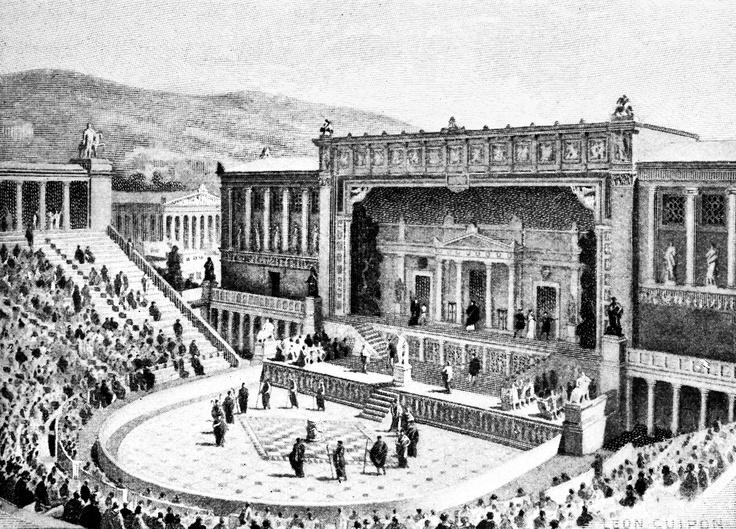 On ancient Dionysus ETC architecture