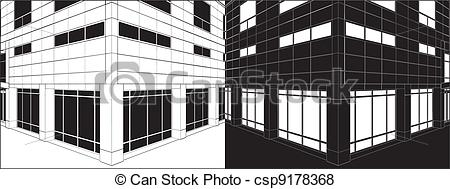 Architecture clipart business building Of Vector Corner Business Of