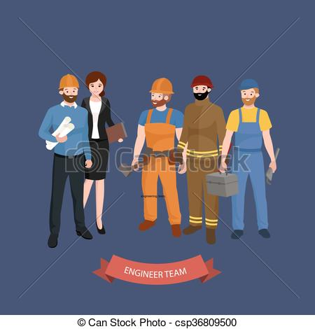 Architecture clipart civil engineer Civil architect Workers csp36809500 of