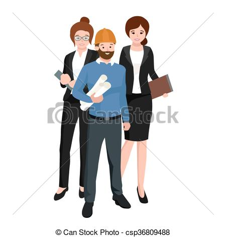 Architecture clipart civil engineer Civil architect Workers csp36809488 Civil