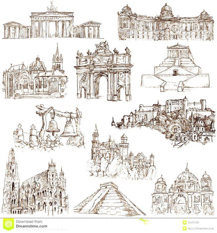Architecture clipart famous place Architecture Buildings For World Pinterest