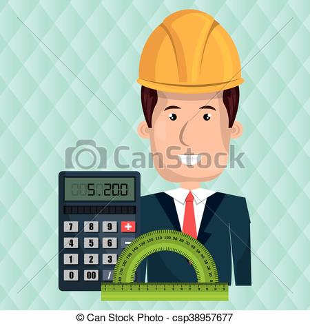 Architecture clipart man EPS Royalty  calculator rule
