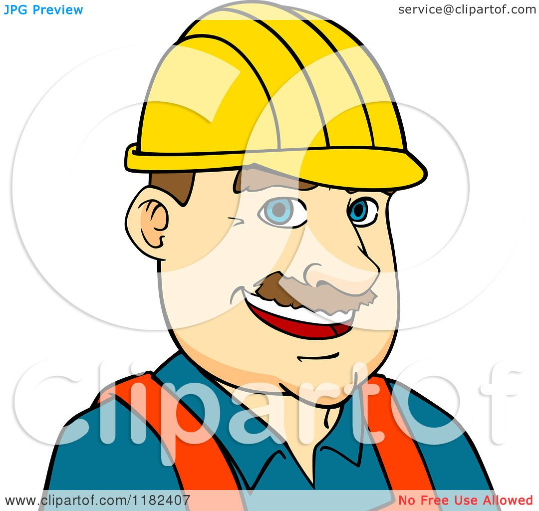 Architecture clipart man Clipart Happy Construction in of