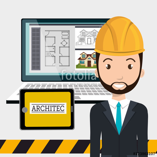 Architecture clipart man Construction and on smiling