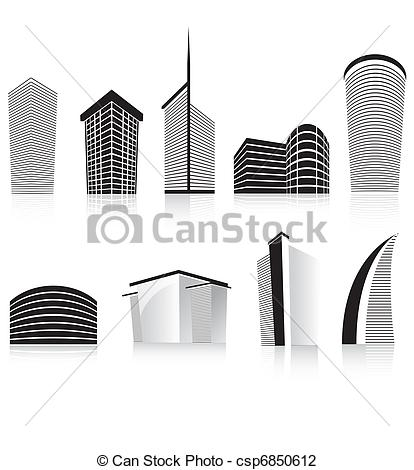 Architecture clipart modern architecture Clip Stock business building Art