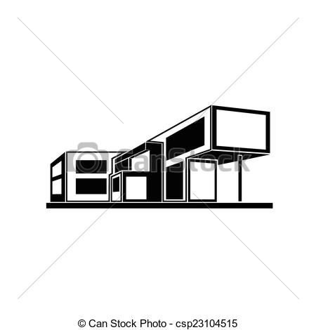 Architecture clipart modern house Clip modern estate house real