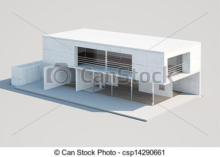Architecture clipart modern house Modern house an Top of