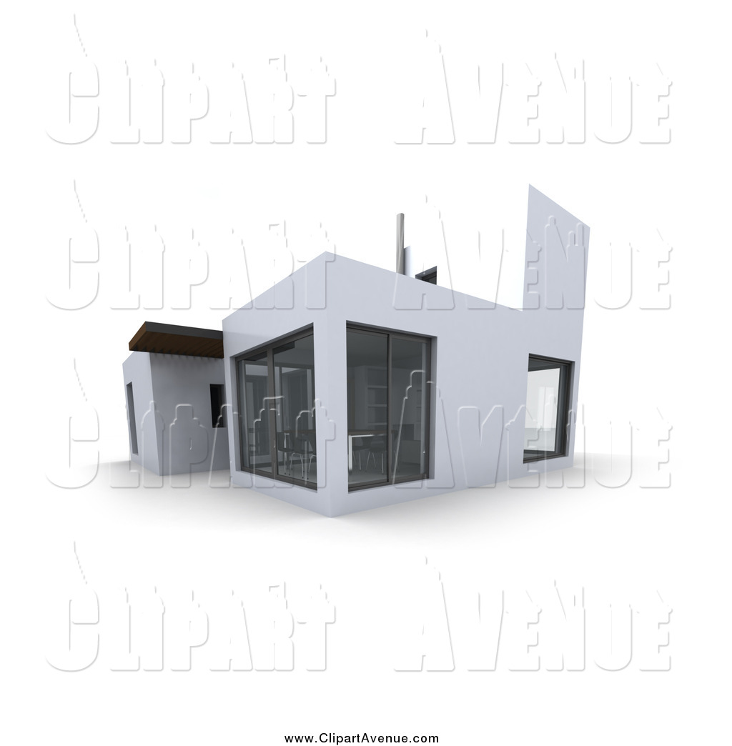 Architecture clipart modern house Architecture Modern Page with Windows