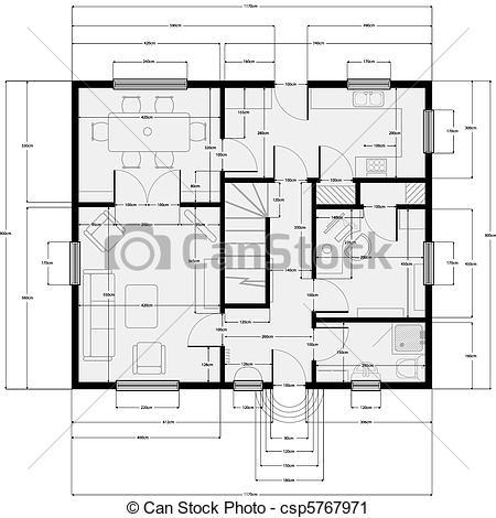 Architecture clipart plan Building Vector Art plans building