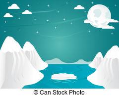 Arctic clipart  Artic landscape Illustrations and