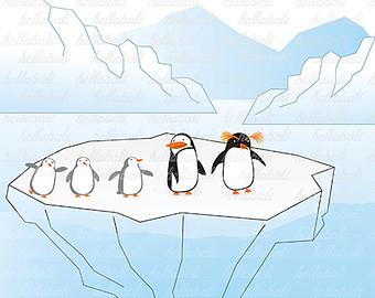 Arctic clipart Animal Art Arctic Penguin Clip