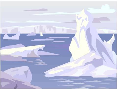 Tundra clipart arctic habitat #3