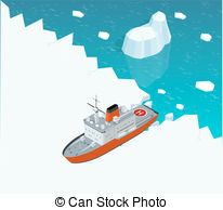 Boat clipart arctic And Boat Illustrations powered on