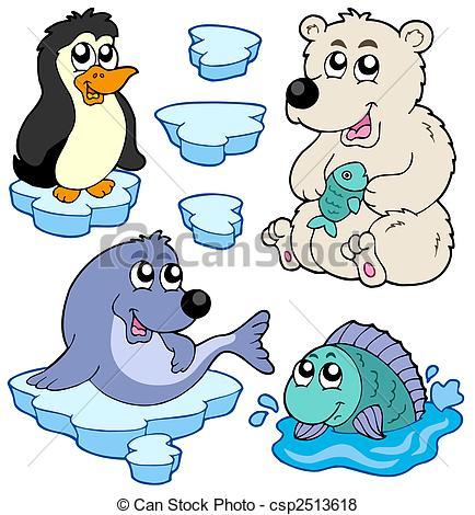 Arctic clipart snow animal 263 animals illustration Arctic Stock