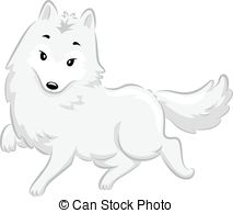 Polar Fox clipart #3