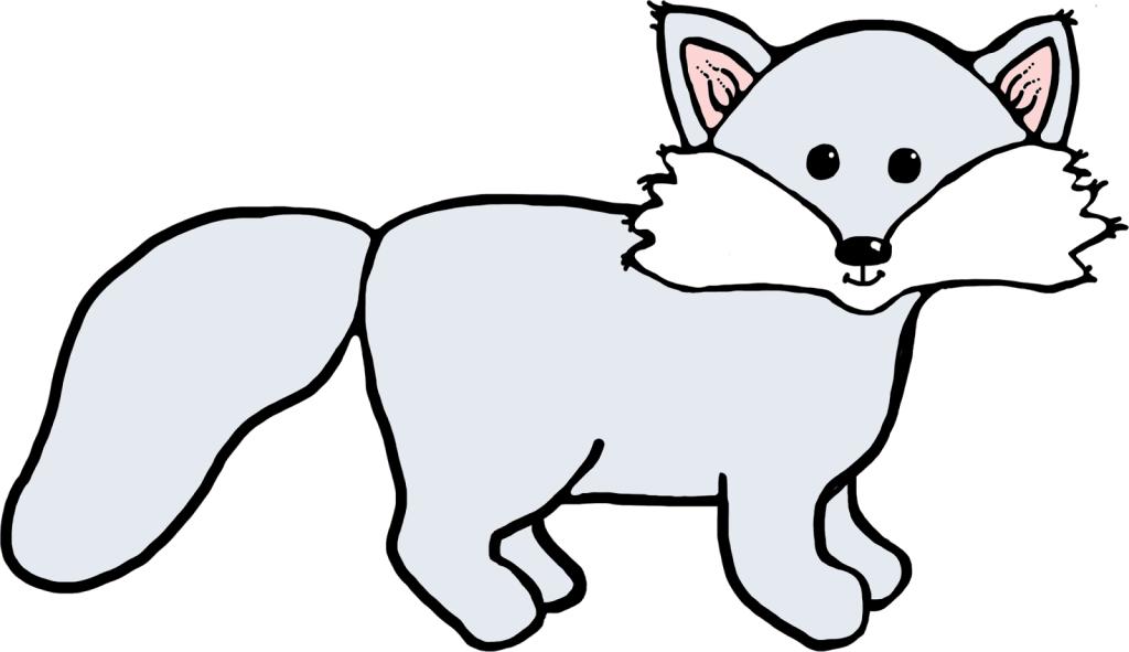 Polar Fox clipart #7