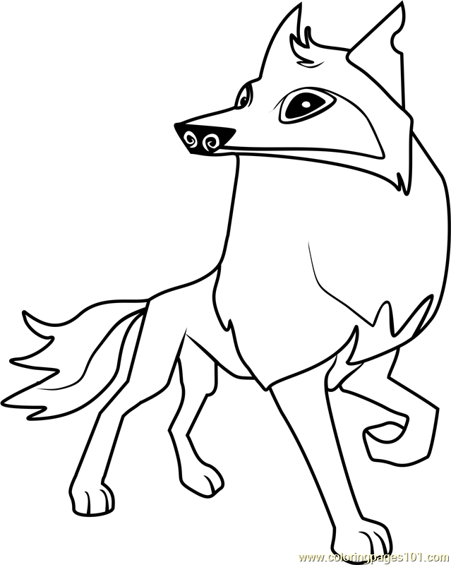 Arctic Wolf clipart coloring book Wolf coloring coloring Wolf drawings
