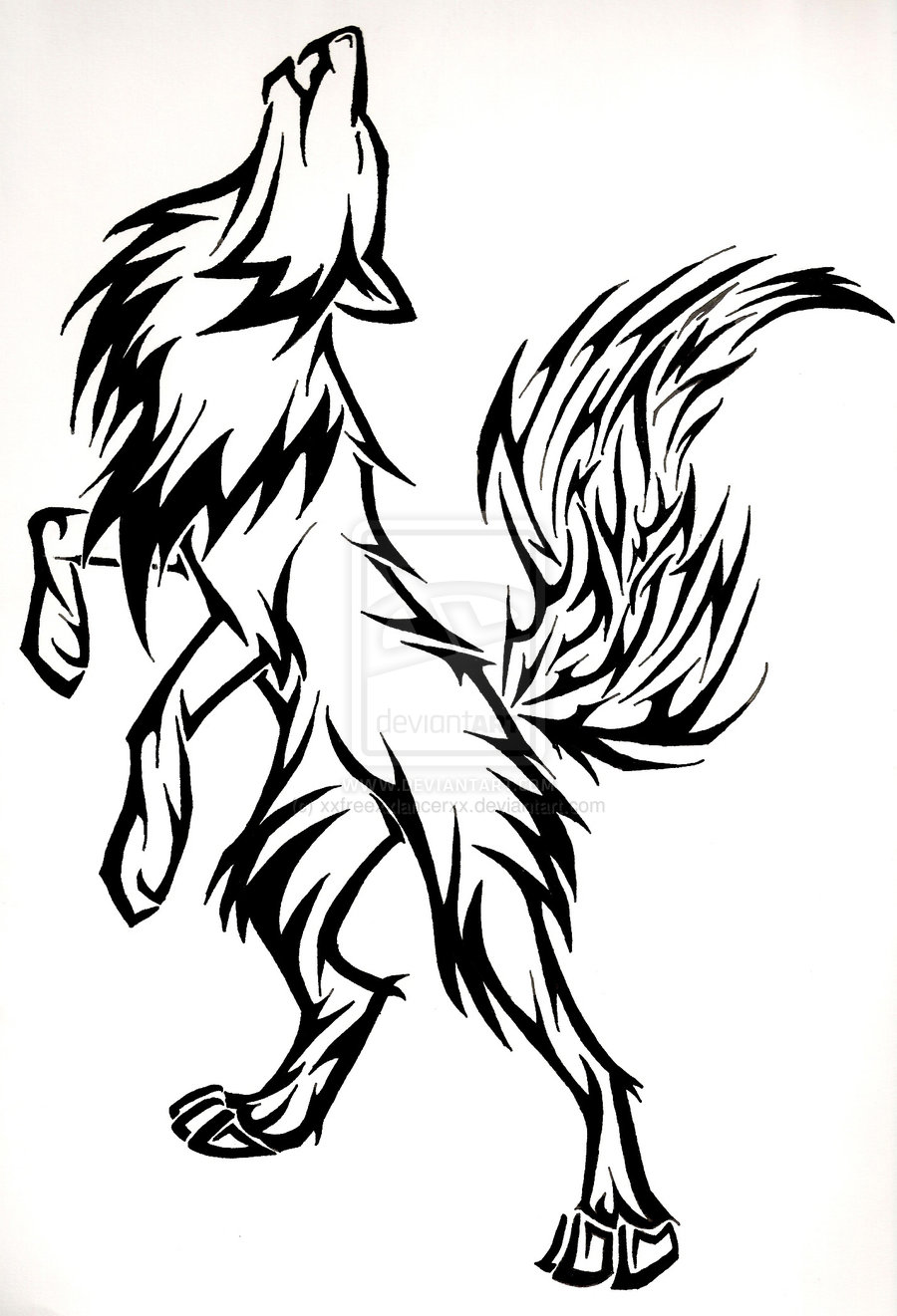 Arctic Wolf clipart outline howling Howling Animated photo#20 Howling head