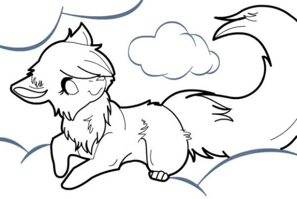 Arctic Wolf clipart simple Drawings Clip Simple Coloring Pages