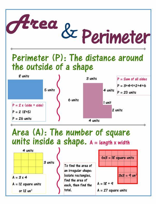 Area clipart perimeter 3rd grade #6