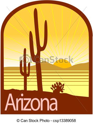 Arizona clipart Of Arizona Vector  csp13389058