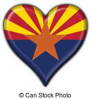 Arizona clipart  button Arizona heart 3