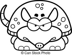 Armadillo clipart odd Angry A of Clipart Vector