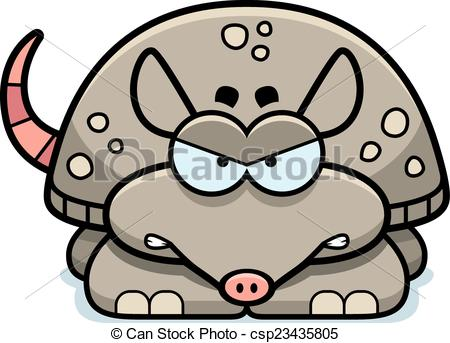 Armadillo clipart vector  csp23435805 Angry Vector Little