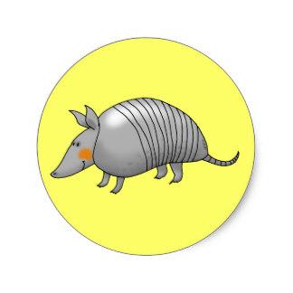 Armadillo clipart envious Armadillo classic Cute sticker armadillo